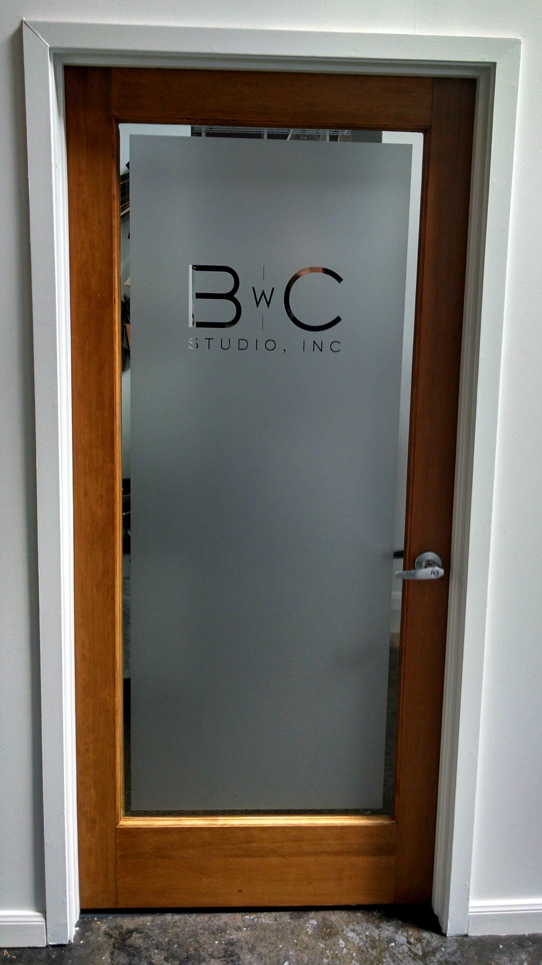 Etched vinyl for Door vinyl design
